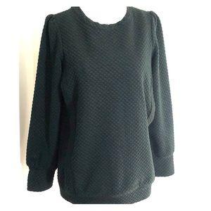 Allette forest green nursing sweater